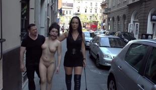 Fetish Liza & John Strong humiliate Fuck Doll Chiara in Budapest!!!