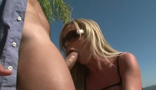 Nikki Benz spends her sexual energy with Rocco Siffredis sturdy rod in her mouth