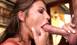 Wicked hottie Adriana Chechik gives valuable pov oral stimulation