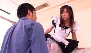 hardcore asiatisk par japansk uniform