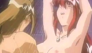 Shower sex with a hentai redhead