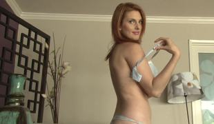 Redheads Penny Pax and Lilith Longing strip for us