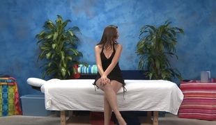 Wicked gal in sexy underware licks dick inserts it in bawdy cleft