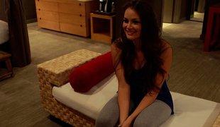 hvit amerikansk vakker pornostjerne blowjob lingerie hotellet korsett