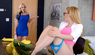 Alena Croft & Haley Mae in Right Down The Slit - MomsLickTeens